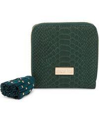 Deux Lux Juniper French Zip Wallet - Green