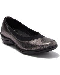 Romika Cassie 21 Leather Wedge Flat - Black