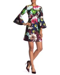 Trina Turk - Splendid Bell Sleeve Floral Print Dress - Lyst