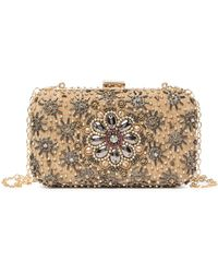 G-Lish Floral Beaded Clutch - Multicolor