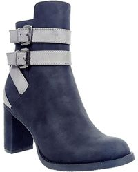 Rebels - Eve Contrast Strap Boots - Lyst