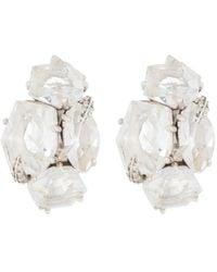 Alexis Bittar Sterling Silver Quartz & Diamond Cluster Clip-on Stud Earrings - Metallic