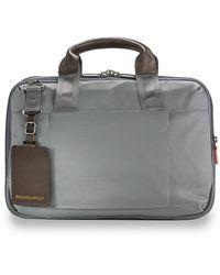 Briggs & Riley Small Expandable Briefcase - Gray