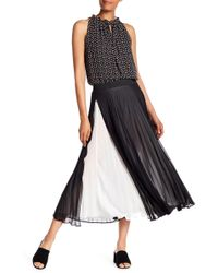 Max Studio | Overlay Pleated Skirt | Lyst