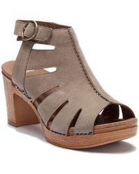 Dansko - Demetra Leather Block Heel Sandal - Lyst