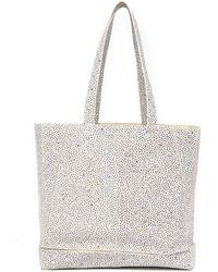 f19df4dc5f6b81 Lyst - Ted Baker Glitter Stripe Large Shopper Bag in Blue