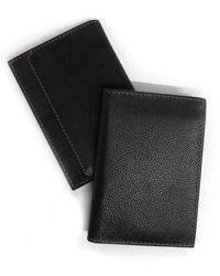 Boconi Leather Bi-fold Wallet In Black At Nordstrom Rack