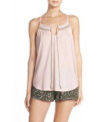 Lucky Brand - Smocked Jersey Short Pyjamas - Lyst