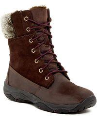 Easy Spirit - Penzance Faux Fur Lace Boot - Lyst