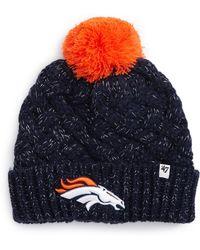 47 Brand - Fiona Denver Broncos Pom Beanie - Lyst