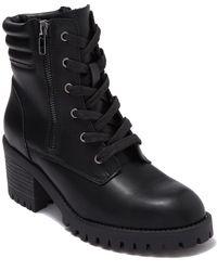 Madden Girl Hushh Lug Sole Boot - Black
