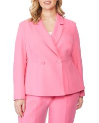 REBEL WILSON X ANGELS Peplum Blazer (plus Size) - Pink