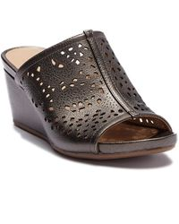 b6ea62342df Naturalizer - Charlotte Perforated Wedge Sandal - Wide Width Available -  Lyst