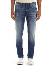 Mavi Jake Distressed Slim Jeans - Blue