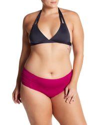 Tommy Bahama - Pearl Side Shirred Bikini Bottoms (plus Size) - Lyst