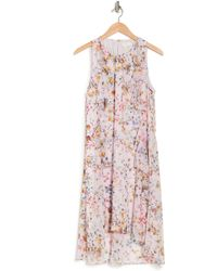 Ted Baker Jasmin Floral Ruffle Sleeveless Dress - Pink
