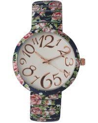 Olivia Pratt - Women's Floral Bracelet Watch - Lyst