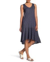 Caslon Drop Waist Midi Dress - Blue