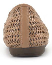 White Mountain Footwear Aubrie Ballet Flat - Brown