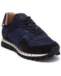 Valentino Garavani Studded Suede Sneaker - Blue