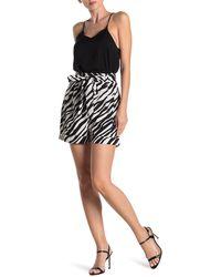Walter Baker Mia Zebra Print Shorts - Black