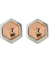 Vince Camuto - Faceted Two-tone Stud Earrings - Lyst