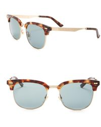 61d28af5745 Lyst - Gucci 52mm Scroll Clubmaster Sunglasses in Metallic