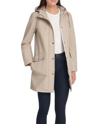 Levi's Water Repellent Lightweight Hooded Raincoat - Natural