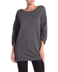 d24cfc3451d Lyst - Marc New York Shirred Back Pullover in Black
