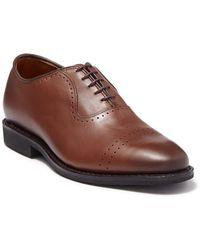 Allen Edmonds Ballard Brogue Cap Toe Oxford - Wide Width Available - Brown