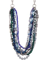 c.A.K.e. By Ali Khan - Michelle Faceted Crystal Glass Pearl Semi Precious Bead Necklace & Earrings 2-piece Set - Lyst