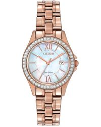 Citizen - Women's Exclusive Eco-drive Mother-of-pearl Crystal Watch - Lyst
