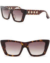 McQ - 52mm Grommet Square Cat Eye Sunglasses - Lyst