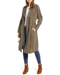 Lucky Brand The Relaxed Double Breasted Canvas Trench Coat - Multicolor