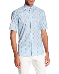 Maceoo - Fresh Striped Short Sleeve Regular Fit Shirt - Lyst