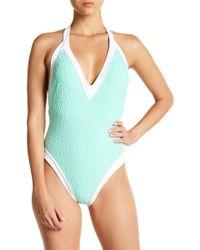 Trina Turk - Sunshine Jacquard Textured Bikini One-piece Swimsuit - Lyst