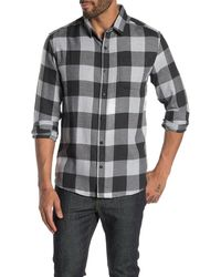 7 Diamonds Raised On Country Check Flannel Shirt - Gray