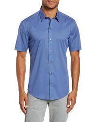 Zachary Prell Jencunas Regular Fit Short Sleeve Shirt - Blue