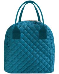MYTAGALONGS Teal Coco Quilted Lunch Box - Blue
