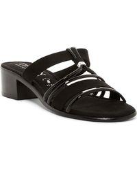 Italian Shoemakers - Strappy Low Block Heel Sandal - Lyst