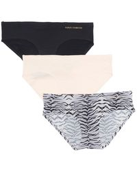 Vince Camuto Tiger Stripe Hipster Panties - Black