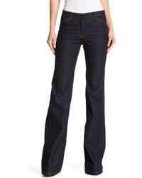Theory Demitria Flared Jeans - Blue