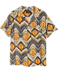 Neuw Neuw Soul Geo Print Short Sleeve Button-up Camp Shirt - Multicolor
