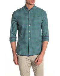 Descendant Of Thieves Check Print Regular Fit Shirt - Green