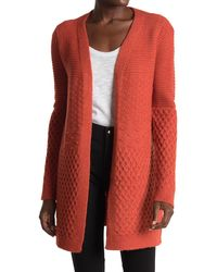 Love By Design Monique Mixed Stitch Cardigan - Red