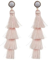 BaubleBar - Gabriela Marble Tassel Earrings - Lyst
