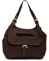 Longchamp - Balzane Perforated Suede Shoulder Bag - Lyst