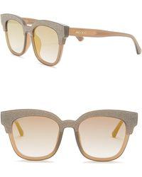 467b7042995 Jimmy Choo - Mayela 50mm Glitter Square Sunglasses - Lyst