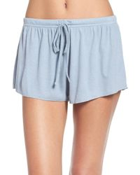 Barefoot Dreams - Luxe Ribbed Jersey Shorts - Lyst