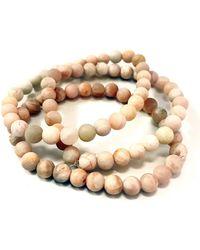 Charlene K Stackable Opal Bracelet Set - Set Of 3 - Pink